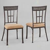 Powell Set Of Two Camelback Dining Side Chairs