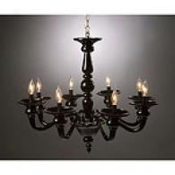 Preciosa Odetta 8 Light Black Crystal Chandelier