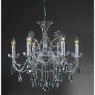 Preciosa Senov 6 Light Crystal Chandelier