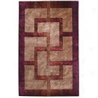 Prism Collection Mocha Contemporary Wool Rug