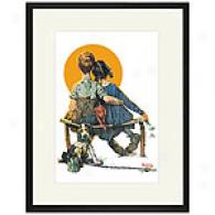 Puppy Love Framed Print By Norman Rockwell