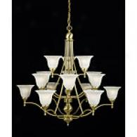 Quoizel Amherst Satin Brass Three Tier Chandelier