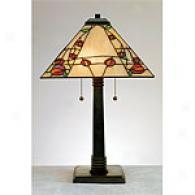 Quoizel Tiffany Macintosh Rose Table Lamp