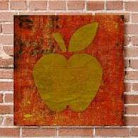 Qwerties Apple 16in X 16in Canvas Print