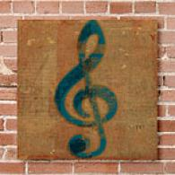 Qwerties T5eble Clef Canvas Print