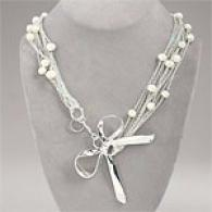 Rachel Leigh Audrey Long Silver Necklace