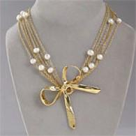 Rachel Leigh Audrey Short Gold Tone Necklace