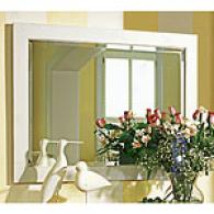 Raised Panel Collection White Beveled Glass Mirror