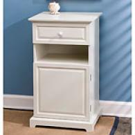 Raised Panel Collection White End Table