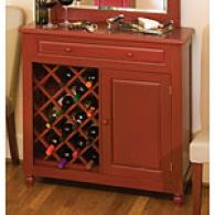 Raised Panel Red Wine Cabinet
