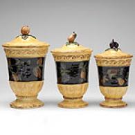 Raymond Waites Set Of 3 Pompeii Canisters