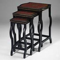 Red & Black Set Of 3 Nesting Tables