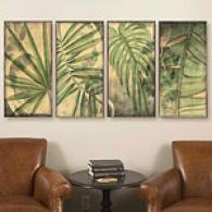 Regal Palm Set Of 4 12in X 24in Canvas Prints