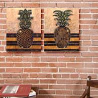 Regal Pineapple Set Of 2 16in X 20in Canvas Prints