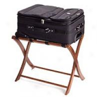 Regalia Beechwood Luggage Rack With Canvas Straps