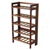 Regalia Walnut 25-bottle Wine Rack