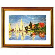 Regatta At Argenteuil By Monet Framed Print