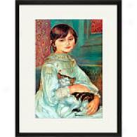 Renoir Julie Manet With Cat Framed Print
