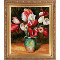 Renoir Tulips In A Vase Framed Oil Painting