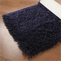 Retro Navy Shag Rug
