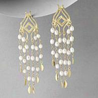 Rf Jewelry Designer Pearl Chandelier Earrings