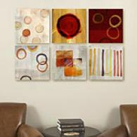 Rings & Rhythic Tones Set Of 6 16in Canvas Prints