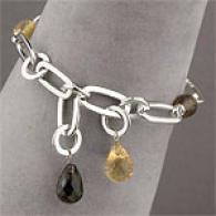 Roberto Coin Silver Quartz & Citrine Bracelet