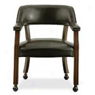 Rockwood Antique Cherry Dark Brown Castor Chair