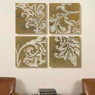 Rococo Set Of 4 16in X 16in Canvas Prints