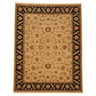 Romani Beige & Ebony Hand Knotted Wool Rug