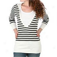 Romeo & Julket Couture Striped Tunic Top With Hood