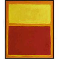 Rothko Orange And Yellow Framed Oil Painting