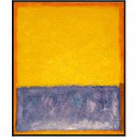 Rothko Yellow, Blue, And Orange Oil Painting