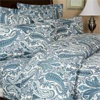 Noble Hotel 6.4oz Paisley Flannel Sheet Set