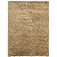 oRyal Shag Collection Straw Wool Blend Rug