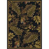 Royal Treasures Black Jungle Rug