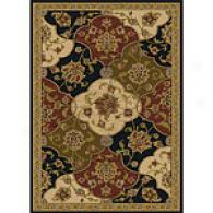 Royal Treasures Black Quilt Traditional Rug