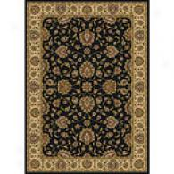 Royal Treasures Black Traditional Rug