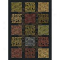 Royal Treasures Boxed In Colored Swirls Rug