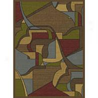 Royal Treasures Brown Outlined Geometric Rug