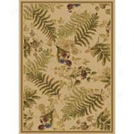 Noble Treasures Ivory Jungle Rug