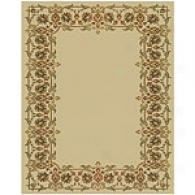 Royal Trellis Border Ivory Area Rug