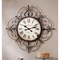 Rust Brosn Metal Work Clock