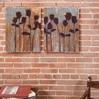 Rustic Blooms Set Of 2 16in X 20in Canvas Prints
