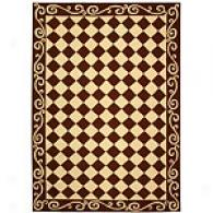Safavieh Chelsea Brown Scroll Checkerboard Rug