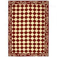 Safavieh Chelsea Burgundy Scroll Checkerboard Rug