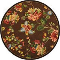 Safavieh Chelsea Chocolate Flloral Hooked Round Rug
