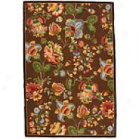Safavieh Chelsea Chocolate Floral Hooked Wool Rug