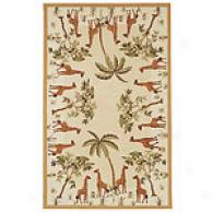 Safavieh Chelsea Collection Giraffe Palm Wool Rug