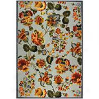 Safavieh Chelsea Light Blue Floral Hooked Rug